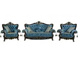 Комплект мягкой мебели Эсмеральда, орех бирюза