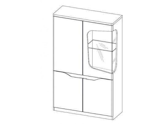 Эвора, Шкаф с витриной 1V3D P