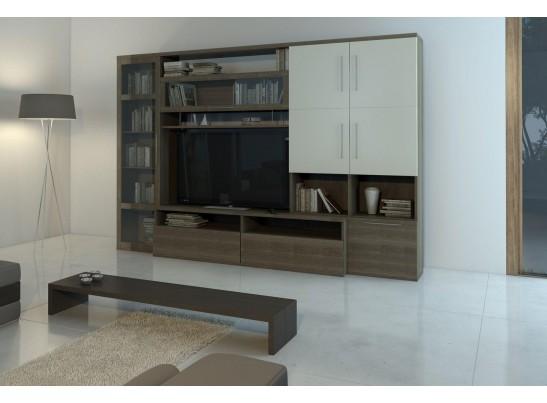 Гостиная Rovenna 1 (2750х550) (пенал, тумба под телевизор, полка, шкаф, шкаф навесной)