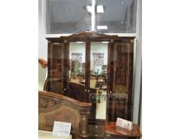 Шкаф 4-х дверный зеркальный «Рома» орех