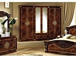 Шкаф 6-и дверный зеркальный «Рома» орех