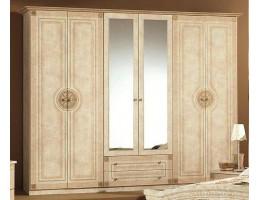 Шкаф 6-и дверный зеркальный «Рома» беж