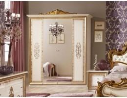 "Шкаф 4-х дверный с зеркалами ""Анита"" (беж.)"