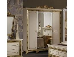"Шкаф 4-х дверный с зеркалами ""Катя"" (беж.)"