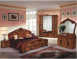 "Спальня ""Роза"" (с 4-х дверным шкафом) орех"