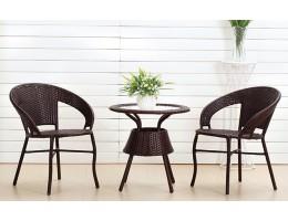 Комплект BISTRO WICKER TB885+F60 (стол + 2 кресла), черный