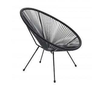 Кресло F103 из искусственного ротанга, черный