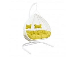 Подвесное кресло-качели для двоих GEMINI White