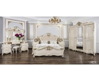 Спальня Джоконда с 3х дверным шкафом (крем глянец)