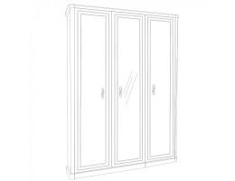 Шкаф 3-створчатый с зеркалом Натали, белый
