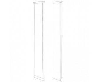 Натали стоевая правая к шкафу, белый глянец