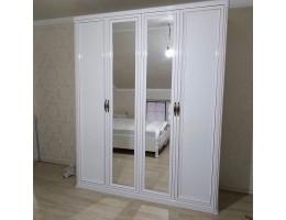 Шкаф 4-створчатый Натали, белый