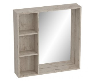 Полка с зеркалом Фан, дуб бонифаций