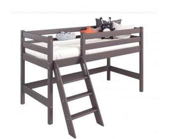 Низкая кровать Соня Вариант 12 (с наклонной лестницей)