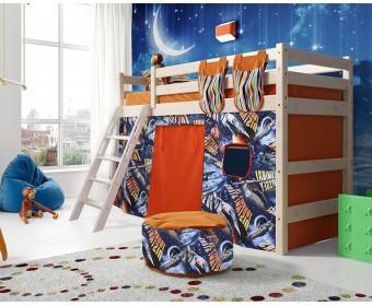 Кровать чердак Соня Вариант 6 (с наклонной лестницей)