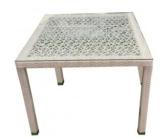 Стол квадратный штабелируемый TURIN с ажурным плетением