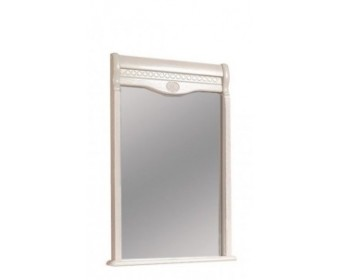 Зеркало прямоугольное Лика в раме из натурального дерева с орнаментом ММ-137-05