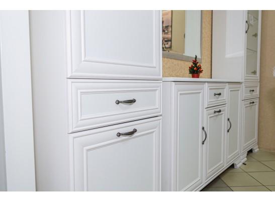 Шкаф-пенал глухой Юнона МН-132-12, белый