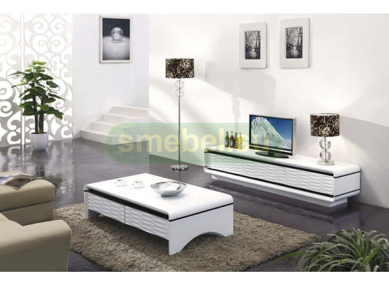 Тумба под ТВ 3D-Modo D2034 (Bright White) 2000*450*450
