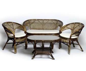 Комплект для отдыха 02/15 с двухместным диваном и овальным столиком