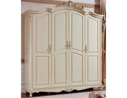 Шкаф платяной 4-дверный 8801-A Fiore Bianco, ivory