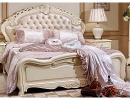 Кровать двуспальная с изножьем 8801-C Fiore Bianco, ivory