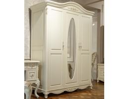 Шкаф платяной 3-х дверный с зеркалом 8801 Fiore Bianco, ivory