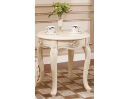 Столик круглый small 8801-B Fiore Bianco, ivory