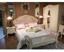Кровать двуспальная без изножья 8801-C Fiore Bianco, ivory