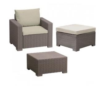 Комплект мебели Moorea table + chair + stool with cushion