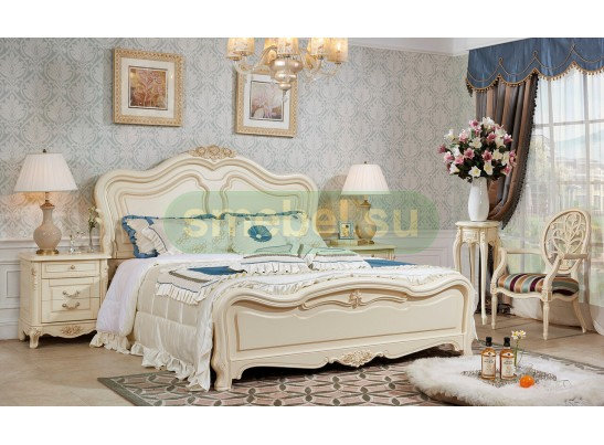 Кровать 180 Fiore Bianco 9901-А2