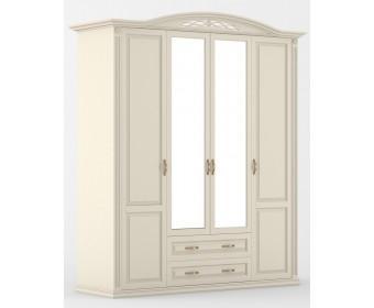 Шкаф четырехдверный Венеция с зеркалом