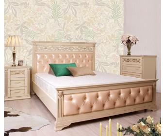 Кровать Верона с каретной стяжкой