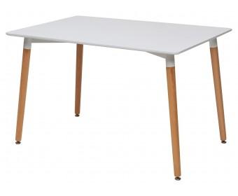 Стол TANSY 120 белый/массив бука